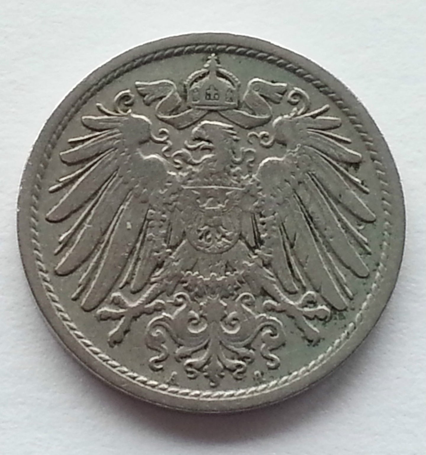 Antique 1906 coin 10 phenning Kaizer Deutsches reich Germany Second Reich