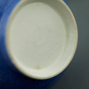 Vintage MOORCROFT porcelain cup and plate blue and white
