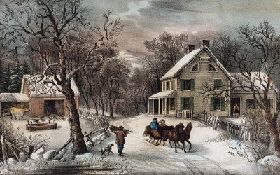 American Homestead Winter - Mouse Pad Universe