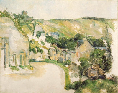 Cezanne: A Turn in the Road at La Roche-Guyon - Mouse Pad Universe
