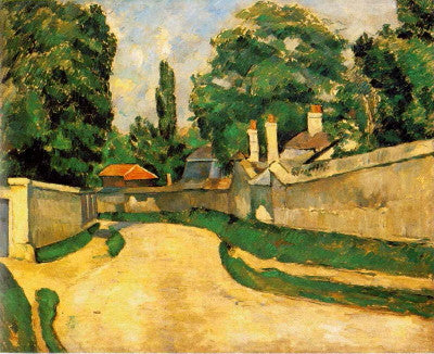 Cezanne: Houses Along a Road - Mouse Pad Universe