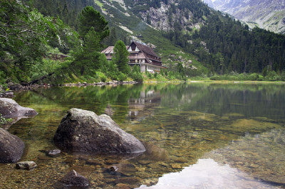 Chalet on Bank of Poprad - Mouse Pad Universe
