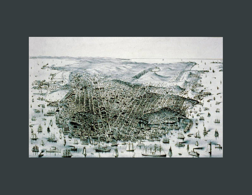 City of San Francisco, 1877 - Mouse Pad Universe