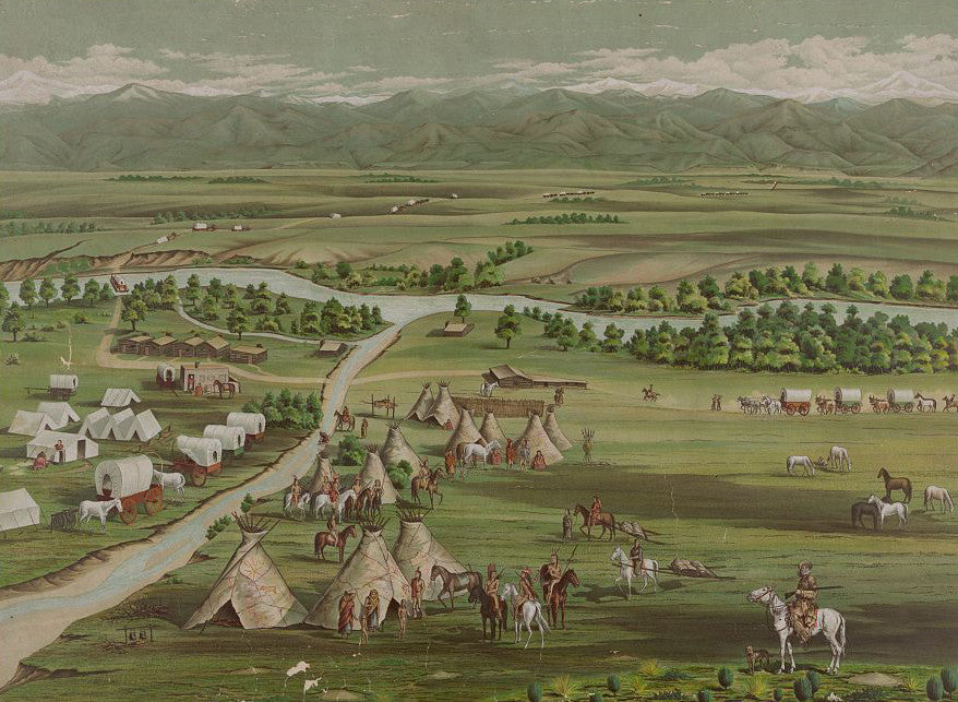 Denver in 1859 - Mouse Pad Universe