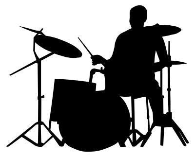 Drummer Silhouette - Mouse Pad Universe