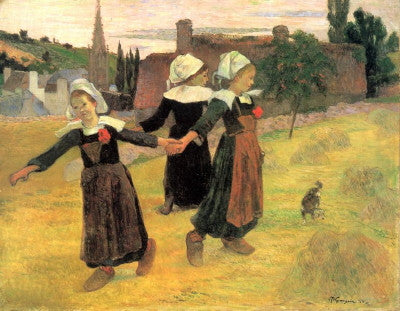 Gauguin: Breton Girls Dancing - Mouse Pad Universe