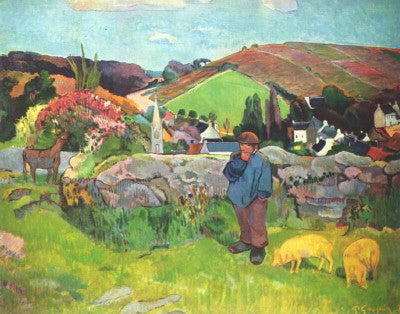 Gauguin: Landscape with Swineherd - Mouse Pad Universe