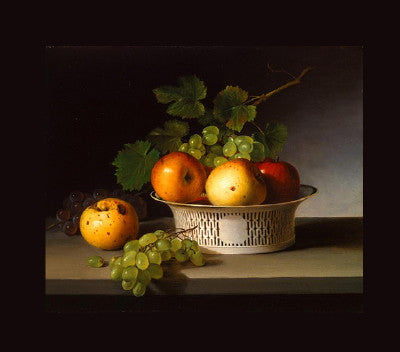 James Peale: Fruit Still Life with Chinese Export Basket - Mouse Pad Universe