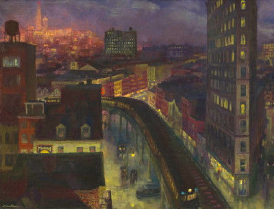 John Sloan: The City from Greenwich Village - Mouse Pad Universe