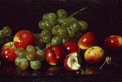 Joseph Decker: Still Life with Crab Apples and Grapes - Mouse Pad Universe