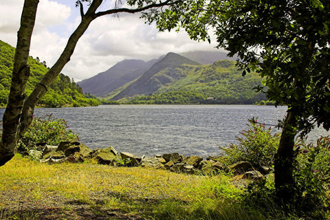 Lake Padarn in Wales - Mouse Pad Universe