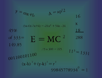 Math Equations - Mouse Pad Universe