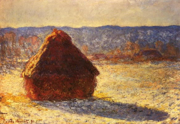 Monet: Haystacks- Morning Snow Effect - Mouse Pad Universe