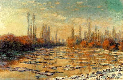 Monet: The Floating Ice - Mouse Pad Universe
