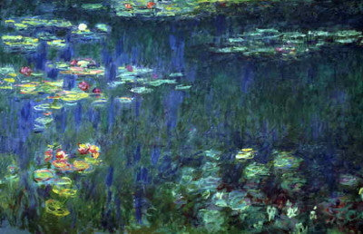 Monet: Water Lilies Green Reflection - Mouse Pad Universe