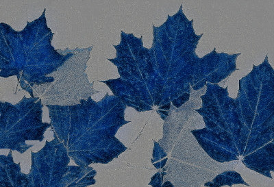Satin Blue Leaves - Mouse Pad Universe