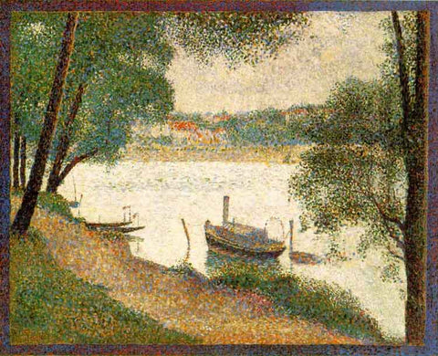 Suerat: Gray Weather, Grande Jatte - Mouse Pad Universe