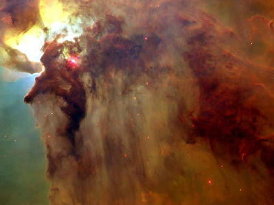 Twisters in the Lagoon Nebula - Mouse Pad Universe