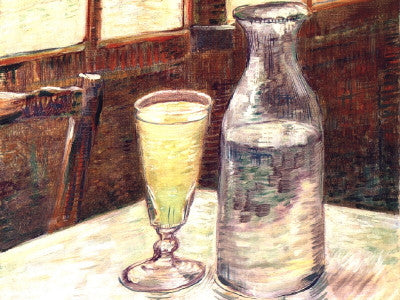 Van Gogh: Glass of Absinthe and a Carafe - Mouse Pad Universe
