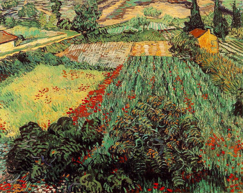 Van Gogh: Field with Poppies - Mouse Pad Universe
