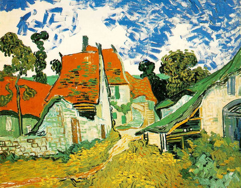 Van Gogh: Village Street in Auvers - Mouse Pad Universe