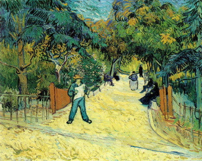 Van Gogh: Entrance to the Public Garden in Arles - Mouse Pad Universe