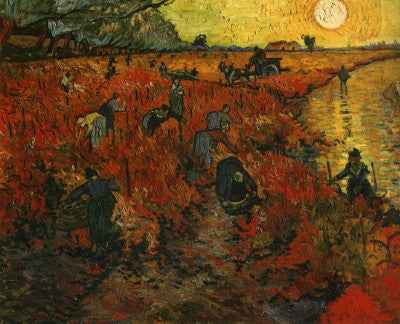 Van Gogh: The Red Vineyard - Mouse Pad Universe