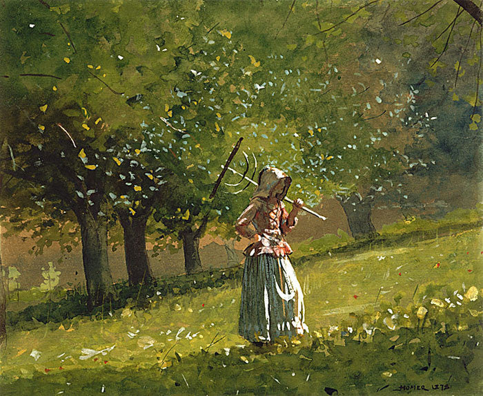 Winslow Homer: Girl with Hay Rake - Mouse Pad Universe