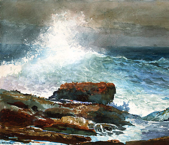 Winslow Homer: Incoming Tide, Scarboro Maine - Mouse Pad Universe