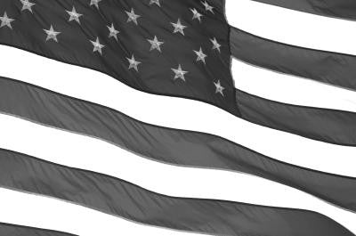 bw American Flag - Mouse Pad Universe