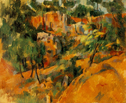 Cezanne: Corner of Quarry - Mouse Pad Universe