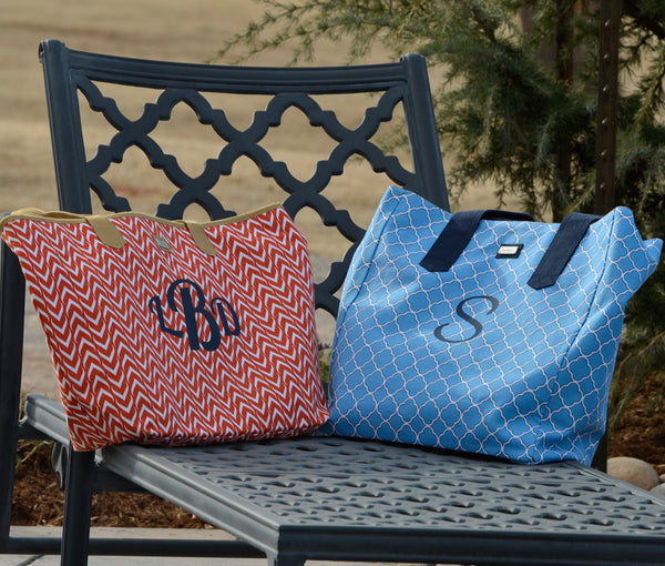 Monogrammed Ame & Lulu Beach Bag and Tote