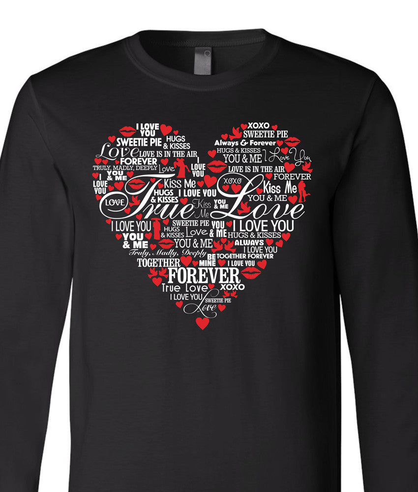 True Love Word Heart Shirt