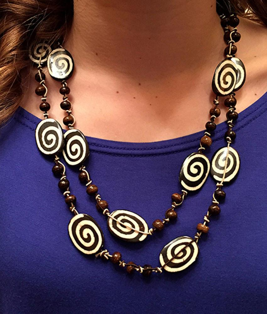 Jewelry - Chocolate Swirl Necklace