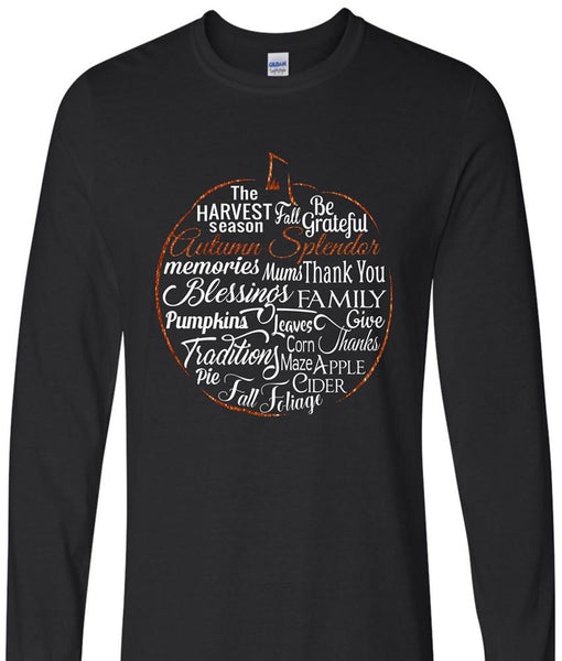 Shirt - Autumn Splendor Long Sleeve Pumpkin Shirt