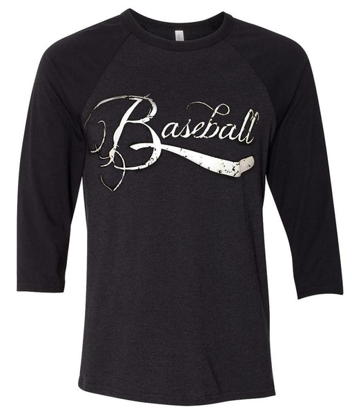 Shirt - Distressed Baseball Raglan Tee