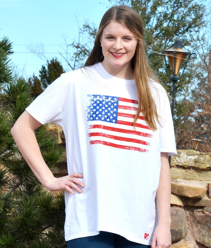 Shirt - Distressed Flag Tee