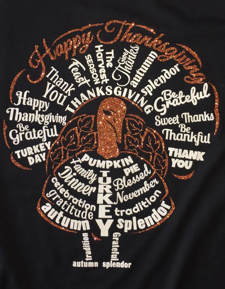 Shirt - Happy Thanksgiving Raglan Turkey Shirt