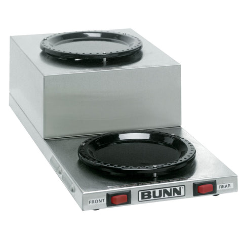 Bunn 11402.0001 WL2 Stainless Steel Decanter Warmer - Dual Burner