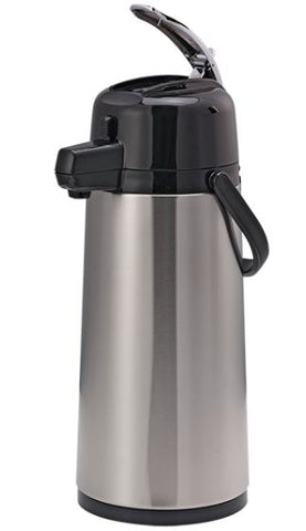 Service Ideas ECAL22S, 2.2 Eco-Air, Glass Lined Lever Lid Airpot, 2.2 Liter