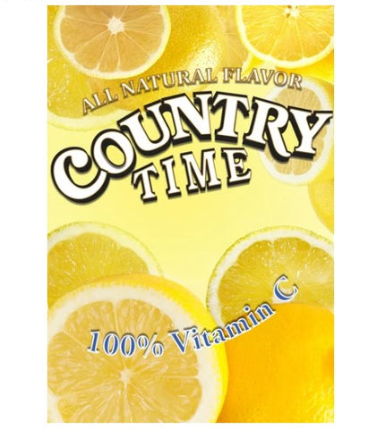 Country Time Lemonade Cling for Cold Powdered Beverage