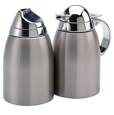 Service Ideas SSC85 Cream and Sugar Caddy, Brushed Stainless