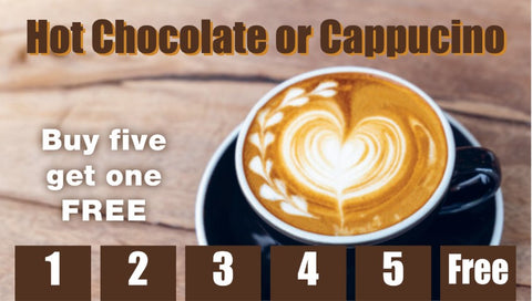Hot Chocolate & Cappuccino Frequency Card (Pack of 25)