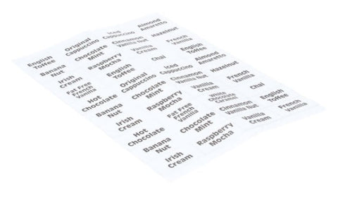 Wilbur Curtis WC-39107-02 Flavor Labels for PC