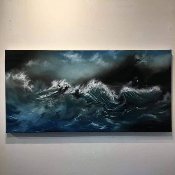 Higher Powers - Original Ocean Seascape with Stormy Sky - Oil - Surreal / Surrealism Wall Art