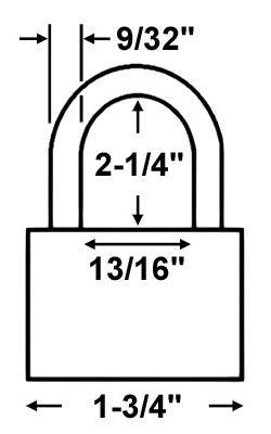 Economy Lock 16115 Laminated Steel Padlock - Keyed Differently