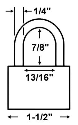 Fortress 1840D Keyed Padlock