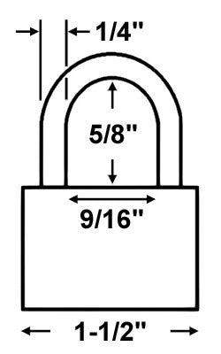 Master Lock 22 Laminated Steel Warded Padlock