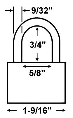 Master Lock 3 Laminated Steel Padlock