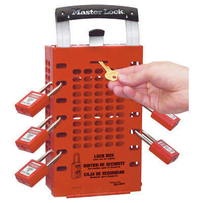 Master Lock 503RED Portable or Wall Mounted Group Lock Box